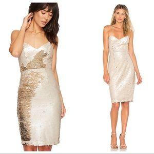 { ASTR The Label } Francesca Dress Gold Two Tone